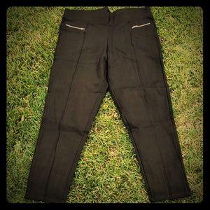 Pants - Stretchy Knit Black Pants